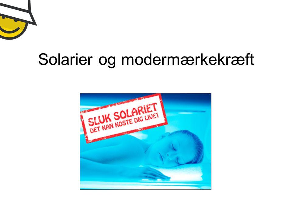 Solarier og modermærkekræft