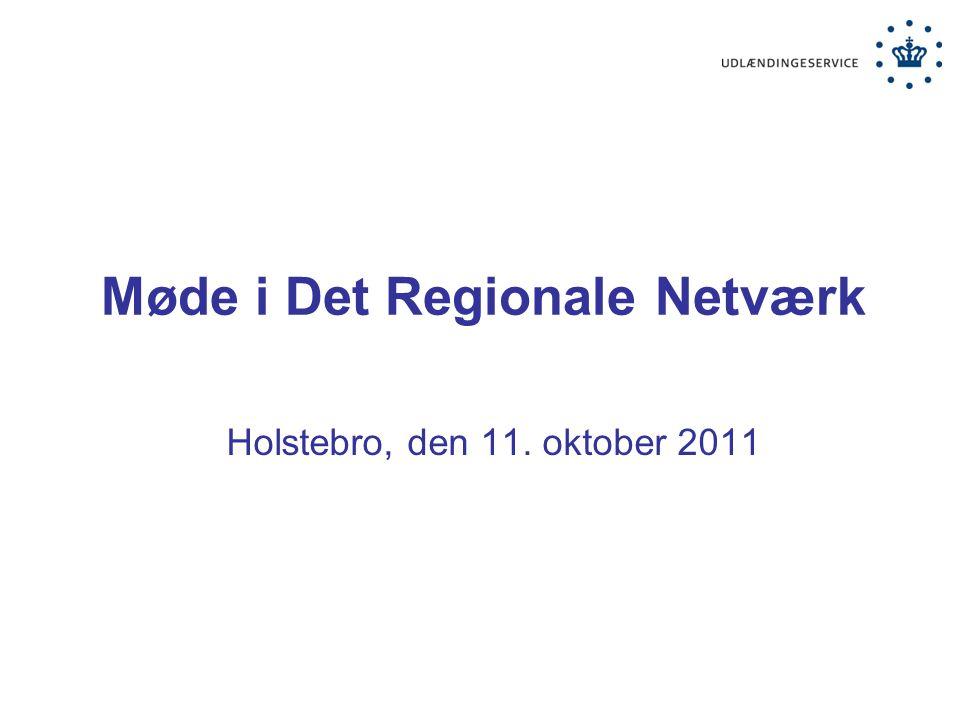 Møde i Det Regionale Netværk