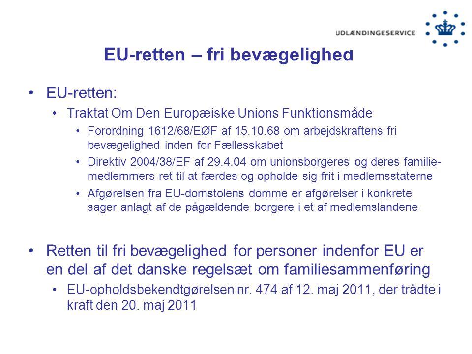 EU-retten – fri bevægelighed