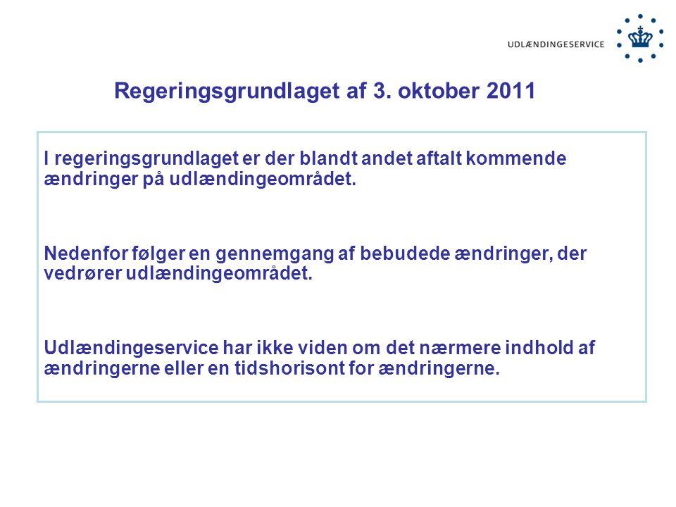 Regeringsgrundlaget af 3. oktober 2011