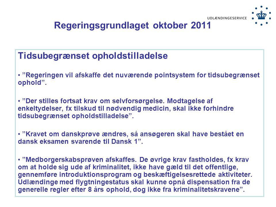 Regeringsgrundlaget oktober 2011