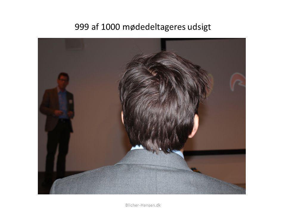 999 af 1000 mødedeltageres udsigt