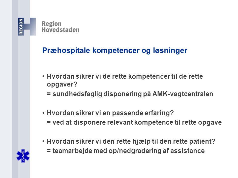 Præhospitale kompetencer og løsninger