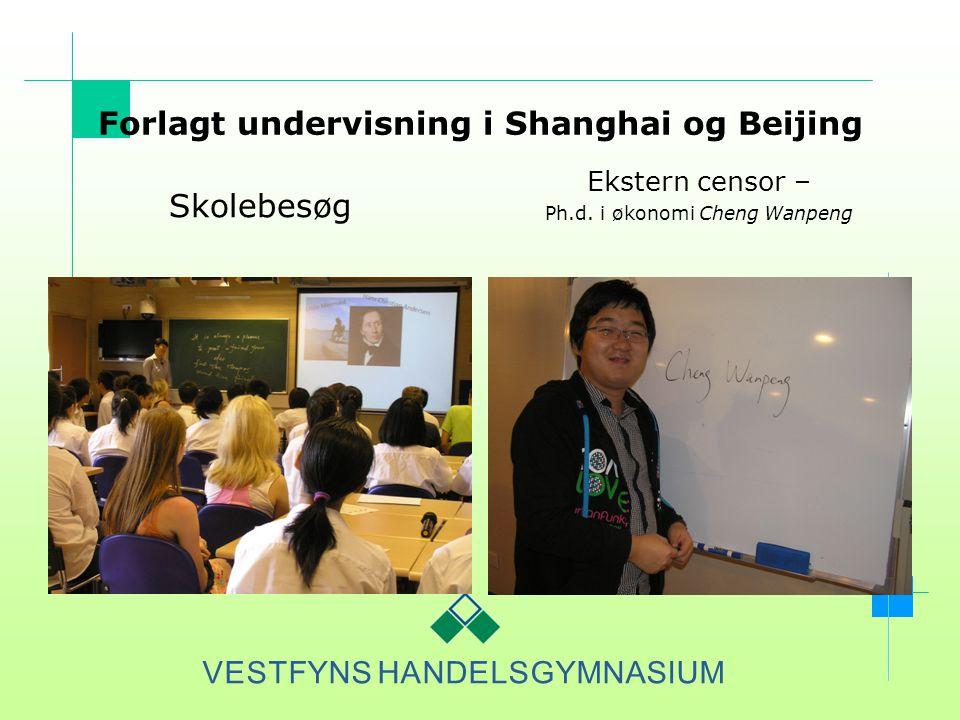 Forlagt undervisning i Shanghai og Beijing