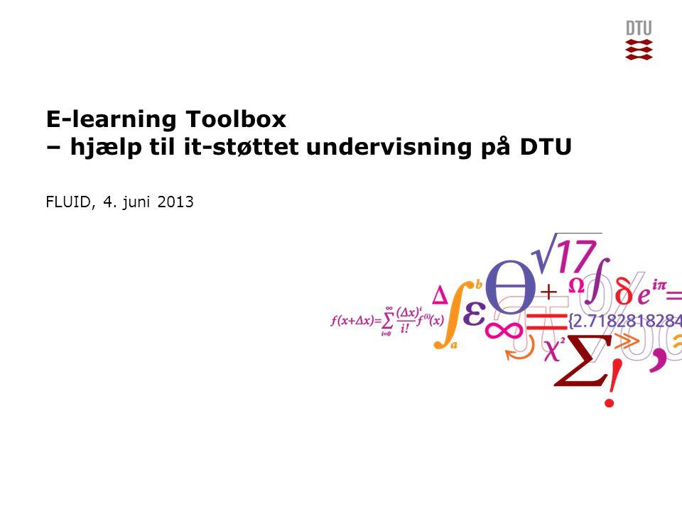 E-learning Toolbox – hjælp til it-støttet undervisning på DTU
