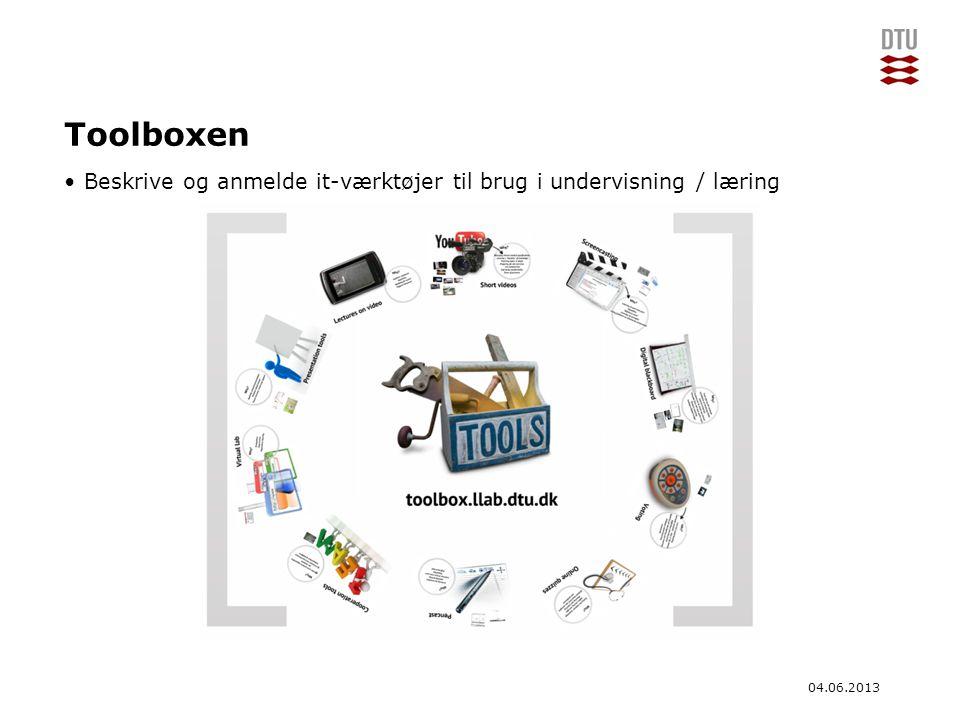 Toolboxen Beskrive og anmelde it-værktøjer til brug i undervisning / læring.
