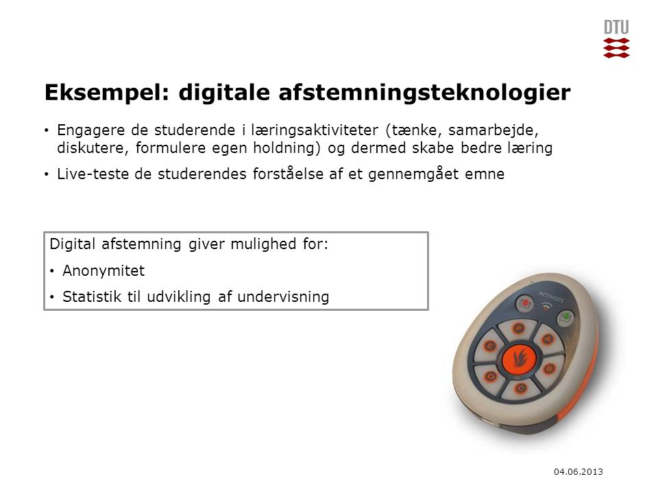 Eksempel: digitale afstemningsteknologier