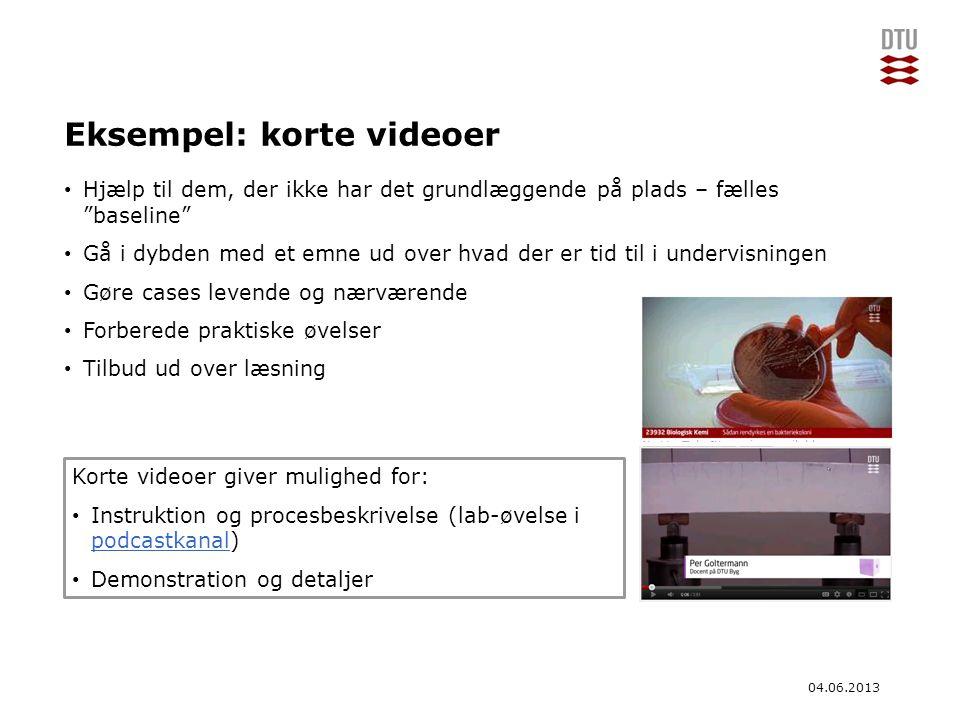Eksempel: korte videoer