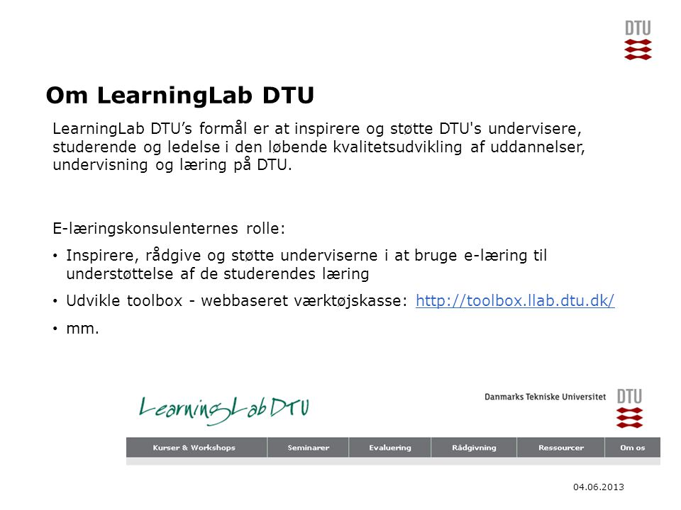 Om LearningLab DTU