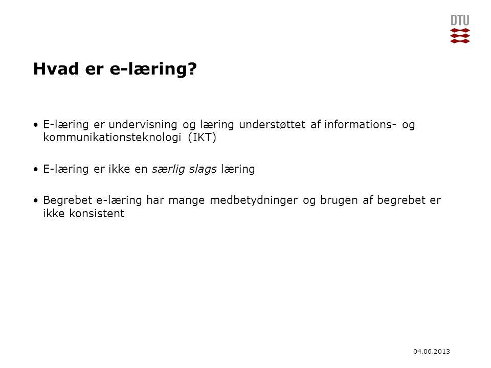 Hvad er e-læring E-læring er undervisning og læring understøttet af informations- og kommunikationsteknologi (IKT)