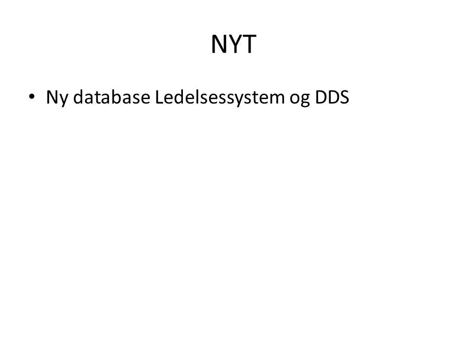 NYT Ny database Ledelsessystem og DDS