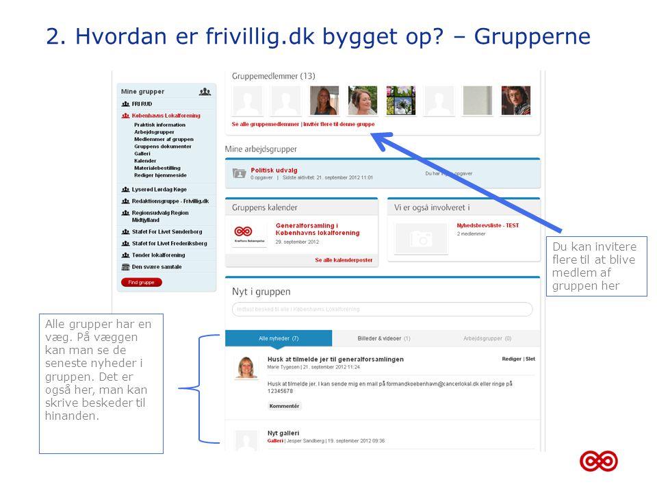 2. Hvordan er frivillig.dk bygget op – Grupperne