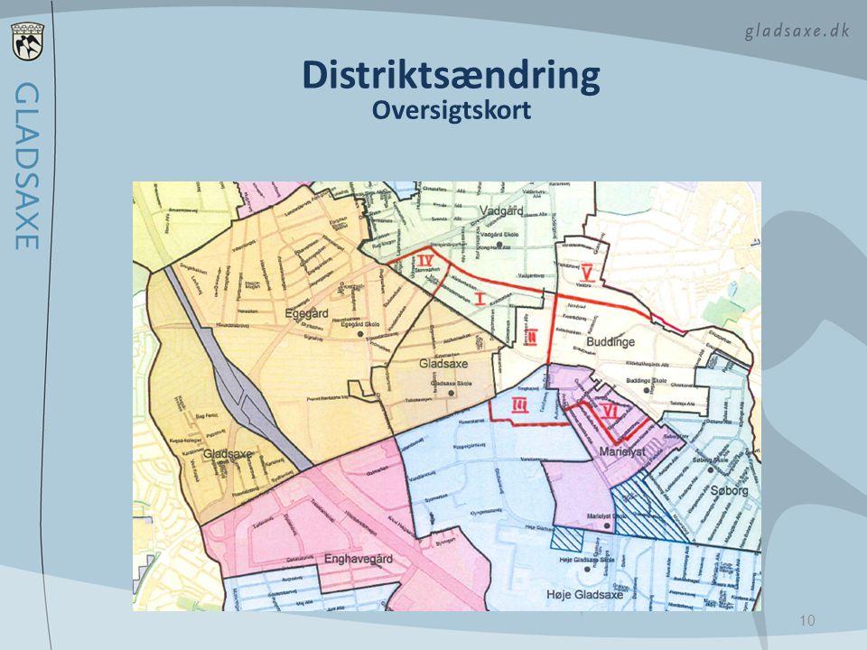 Distriktsændring Oversigtskort