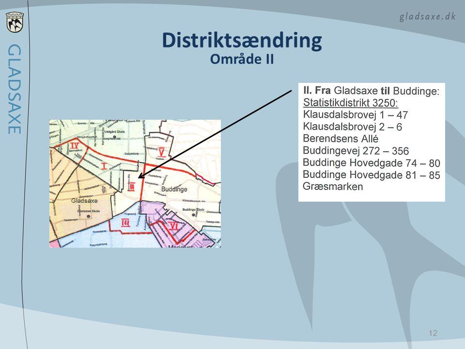 Distriktsændring Område II
