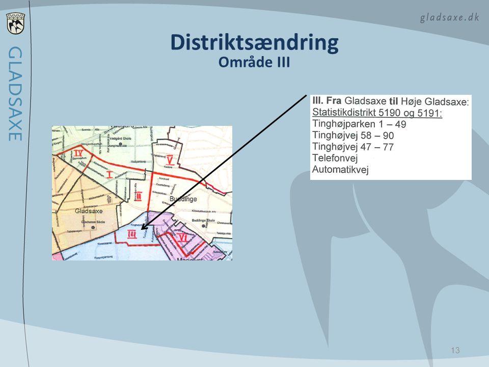 Distriktsændring Område III