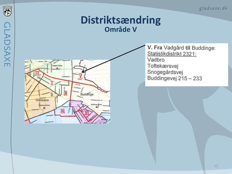 Distriktsændring Område V