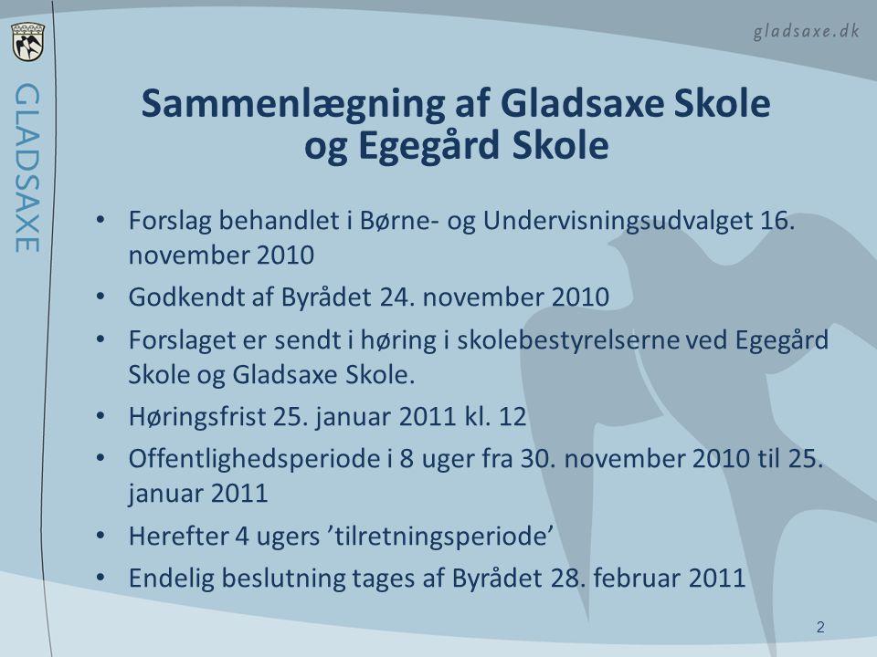 Sammenlægning af Gladsaxe Skole og Egegård Skole