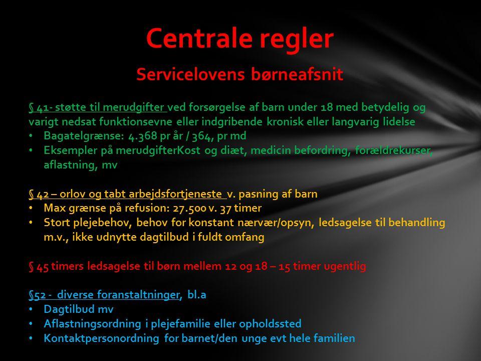 Servicelovens børneafsnit