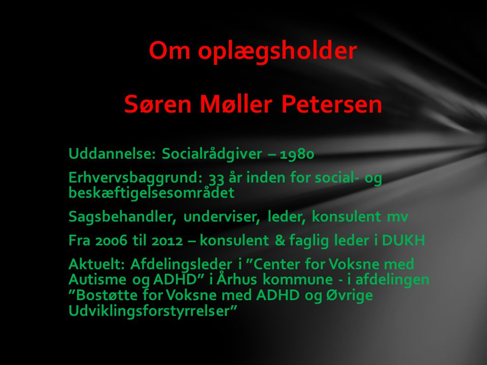 Om oplægsholder Søren Møller Petersen