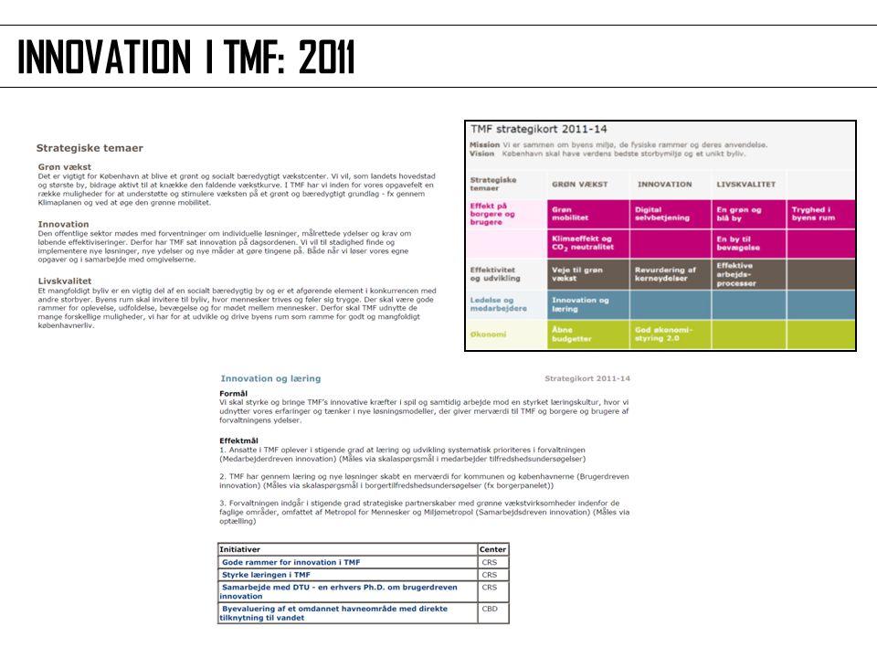 INNOVATION I TMF: 2011