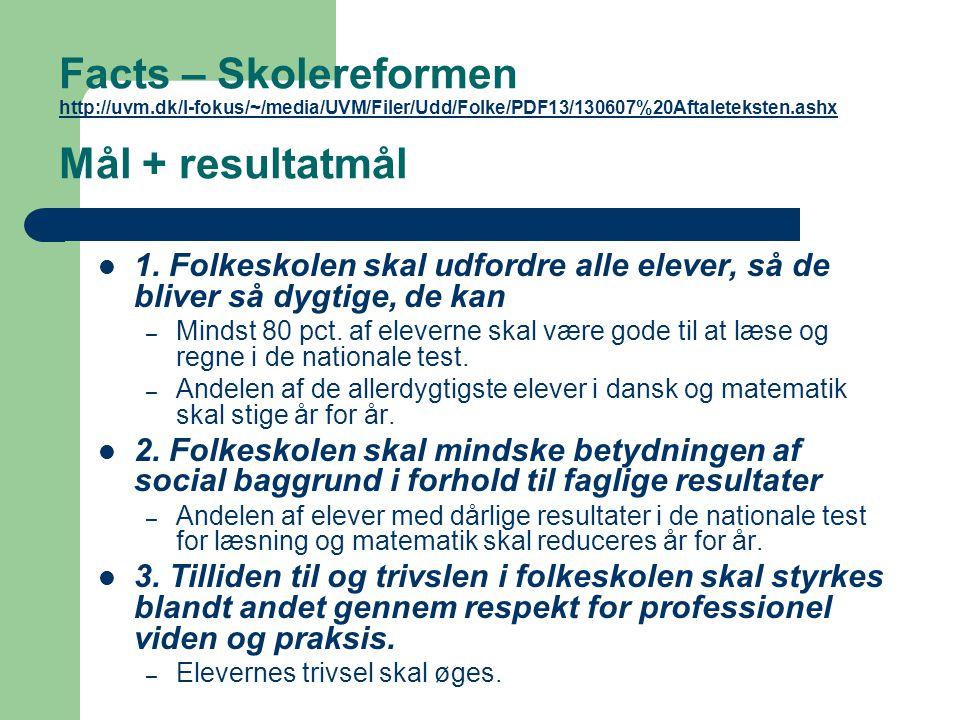 Facts – Skolereformen http://uvm
