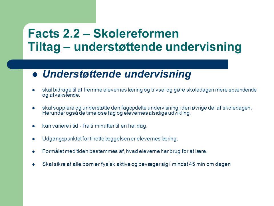 Facts 2.2 – Skolereformen Tiltag – understøttende undervisning