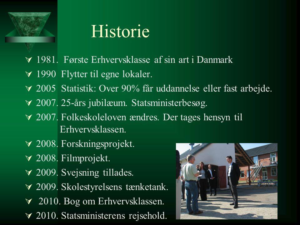 Historie 1981. Første Erhvervsklasse af sin art i Danmark