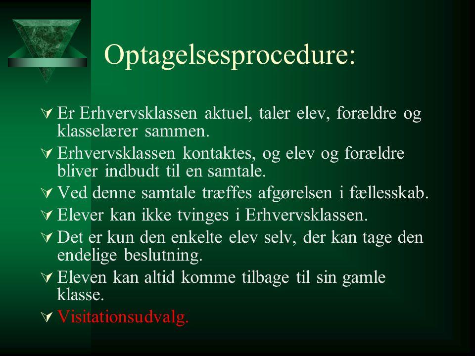 Optagelsesprocedure: