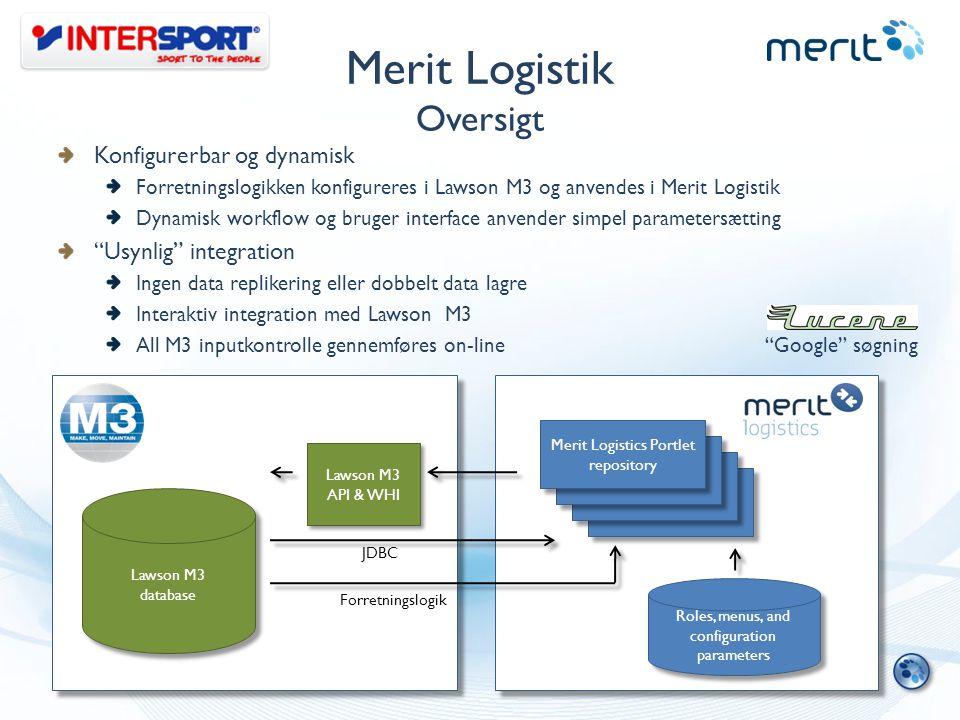 Merit Logistik Oversigt