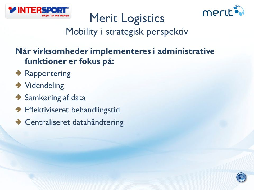 Merit Logistics Mobility i strategisk perspektiv