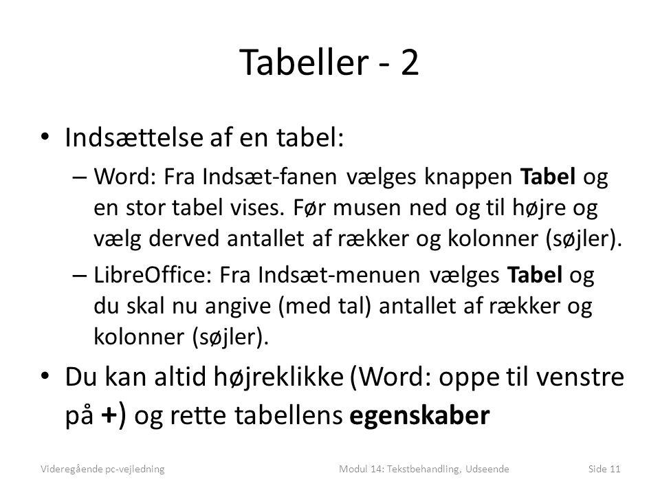 Modul 14: Tekstbehandling, Udseende