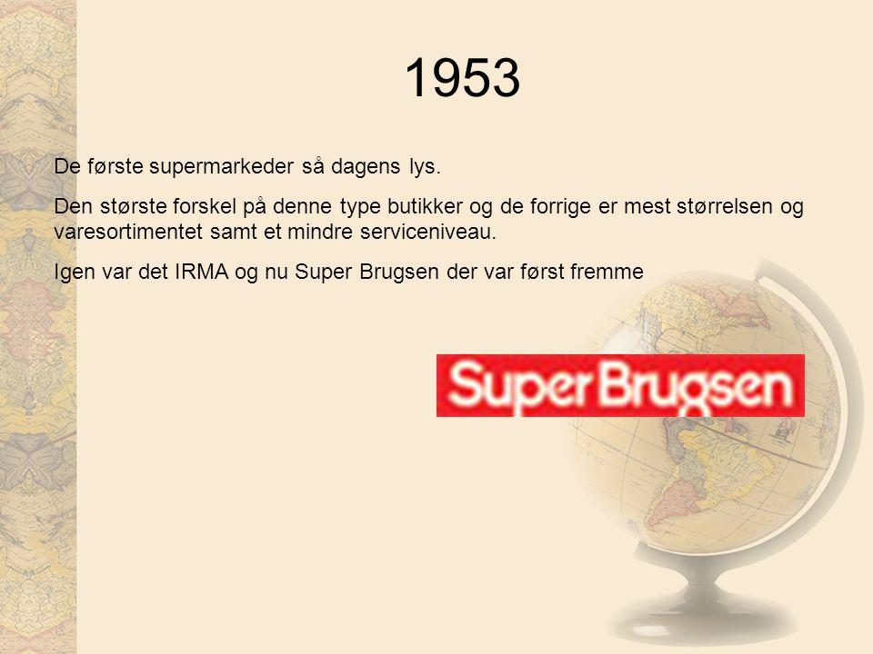 1953 De første supermarkeder så dagens lys.