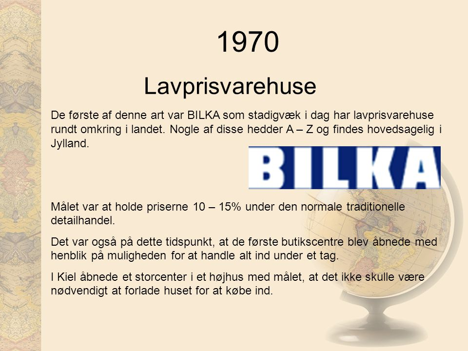 1970 Lavprisvarehuse.