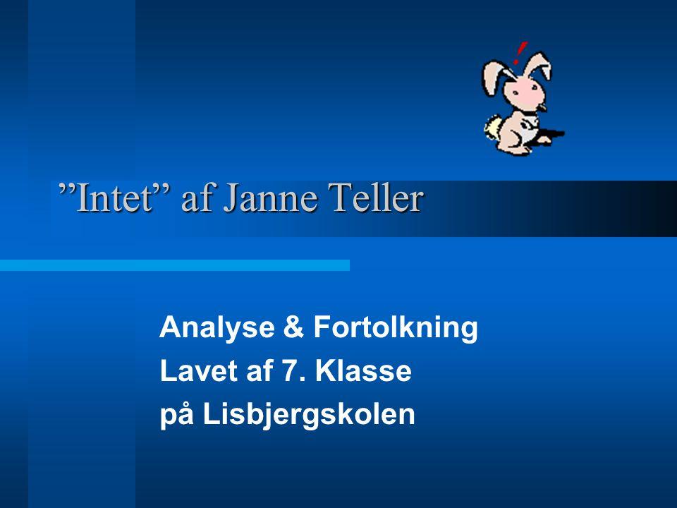 Intet af Janne Teller