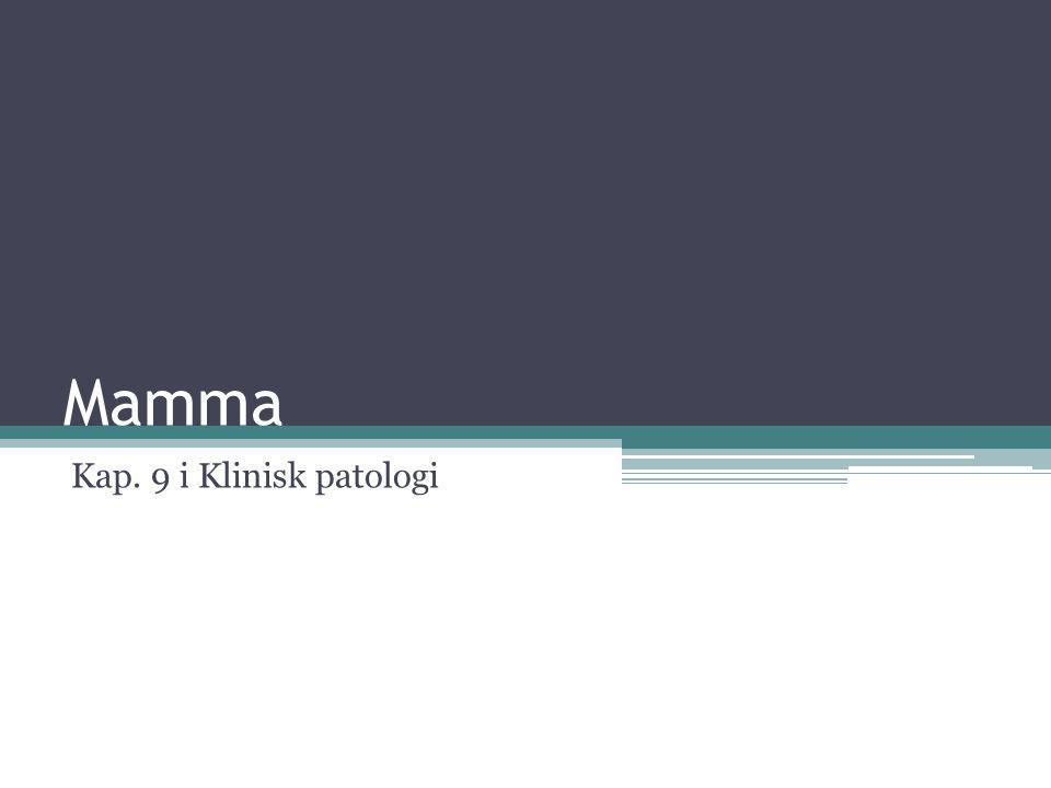 Mamma Kap. 9 i Klinisk patologi