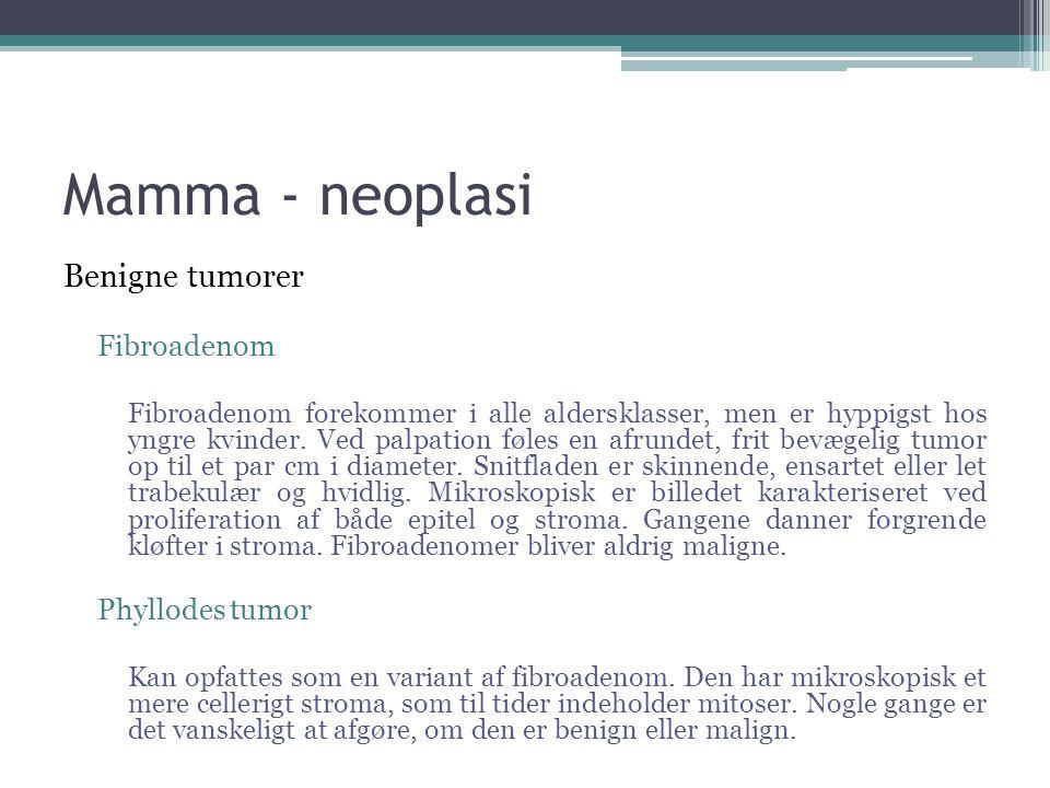 Mamma - neoplasi Benigne tumorer Fibroadenom Phyllodes tumor