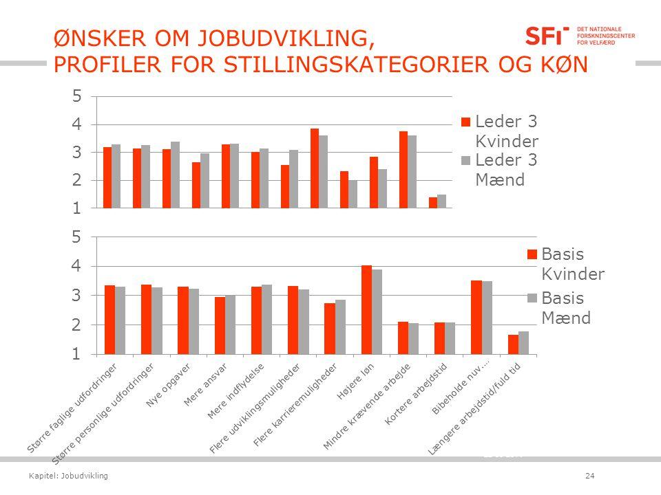 ØNSKER OM JOBUDVIKLING, PROFILER FOR STILLINGSKATEGORIER OG KØN