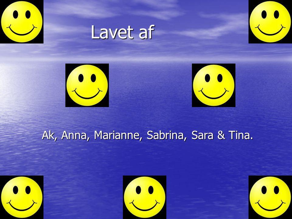 Lavet af Ak, Anna, Marianne, Sabrina, Sara & Tina. Haha haha