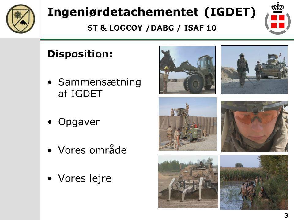 Ingeniørdetachementet (IGDET) ST & LOGCOY /DABG / ISAF 10