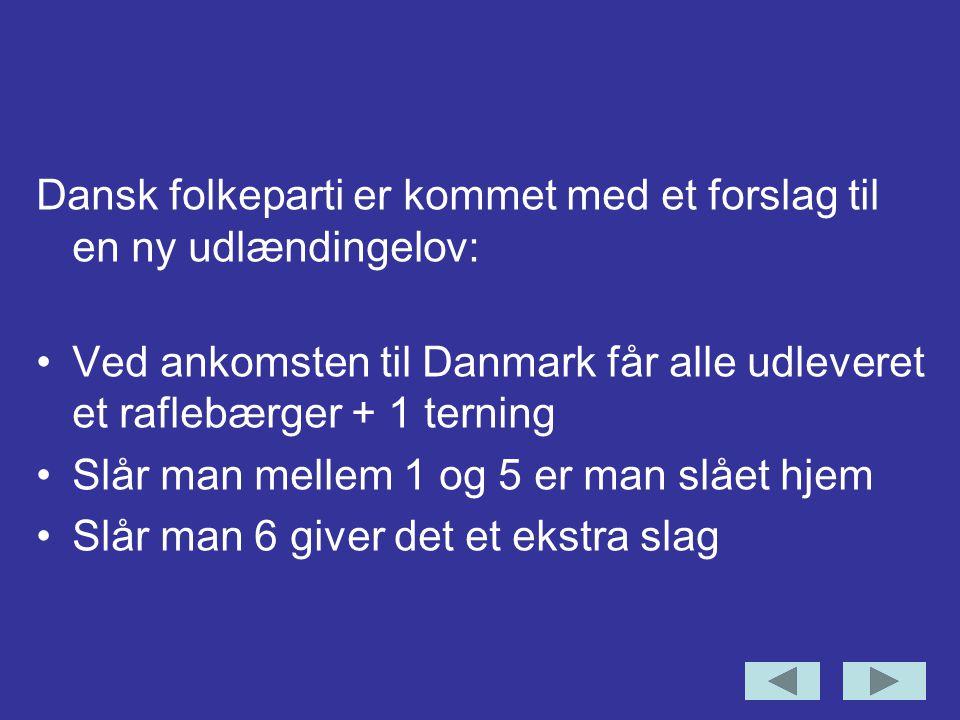Dansk folkeparti er kommet med et forslag til en ny udlændingelov: