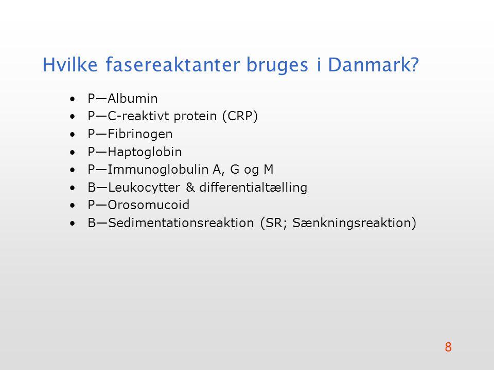 Hvilke fasereaktanter bruges i Danmark