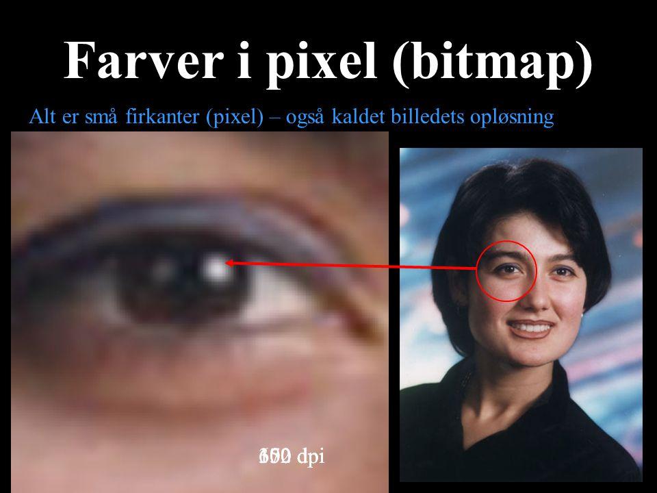 Farver i pixel (bitmap)