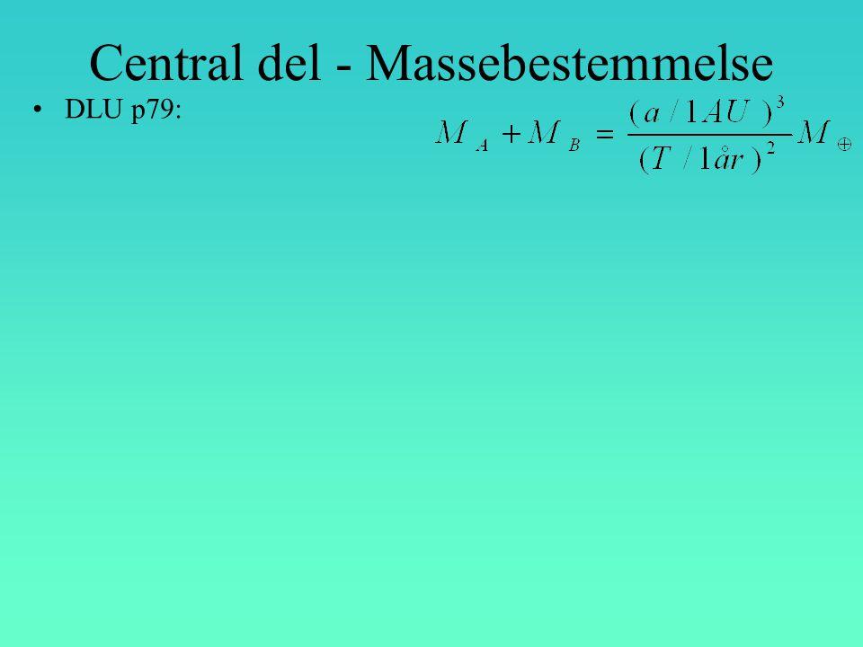Central del - Massebestemmelse