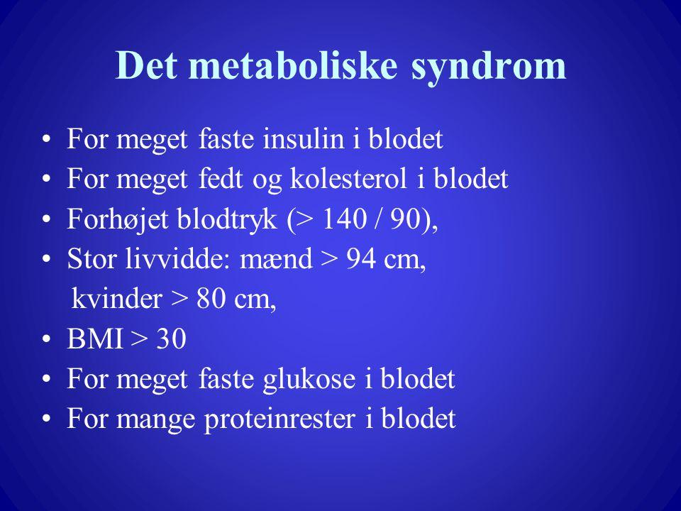 Det metaboliske syndrom