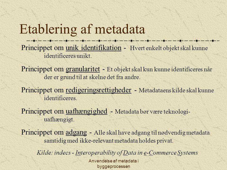 Etablering af metadata