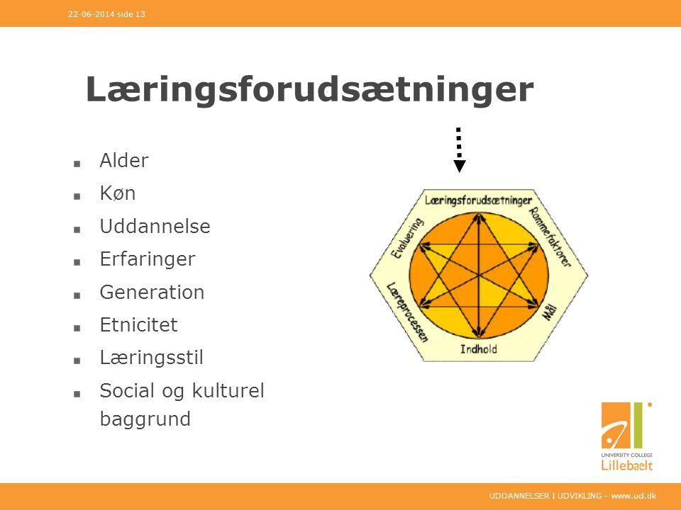 Læringsforudsætninger