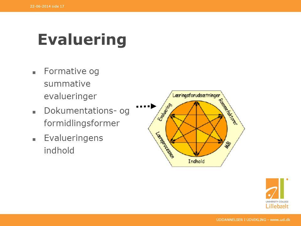 Evaluering Formative og summative evalueringer