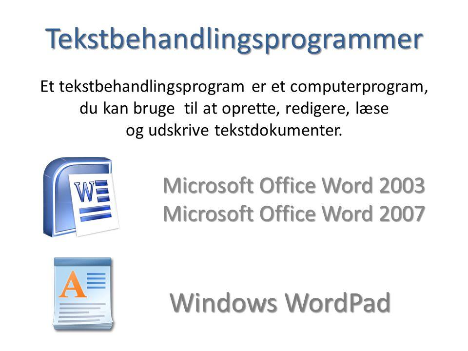 Tekstbehandlingsprogrammer