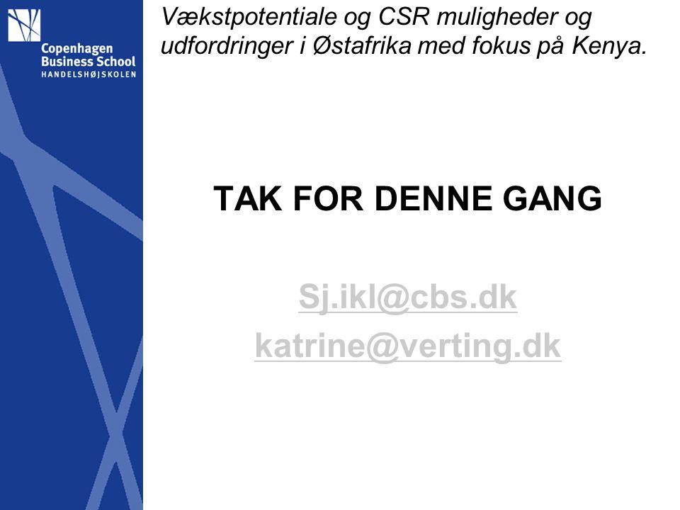 TAK FOR DENNE GANG Sj.ikl@cbs.dk katrine@verting.dk