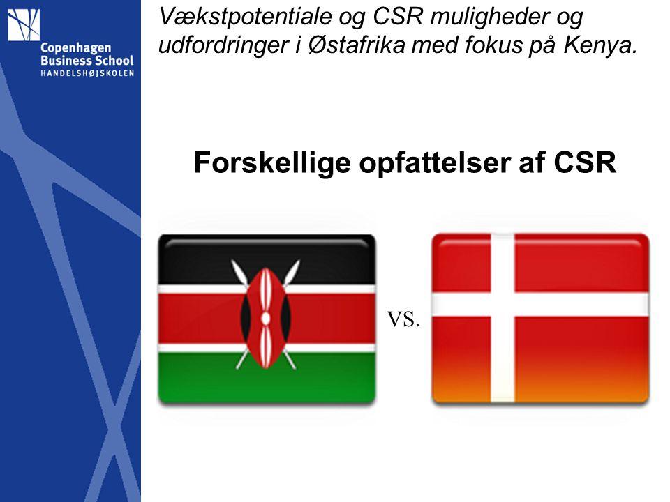 Forskellige opfattelser af CSR